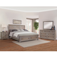 All-American Affinity 4pc Sleigh Storage Bedroom Set in Reclaimed Gray