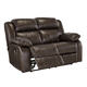 Branton Reclining Power Loveseat in Antique U7190174