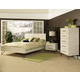 Ligna Jackson 4-Piece Panel Bedroom Set in Sea Salt