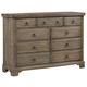 All-American Whiskey Barrel 9 Drawer Chesser in Rustic Gray