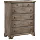 All-American Whiskey Barrel 5 Drawer Chest in Rustic Gray