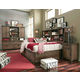 Legacy Classic Kids 4-Piece Fulton County Bookcase Lounge Bedroom Set in Tawny Brown