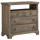 All-American Whiskey Barrel 4 Drawer Media Chest in Rustic Gray