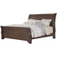 All-American Whiskey Barrel Queen Sleigh Bed in Dark Roast
