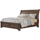 All-American Whiskey Barrel Queen Sleigh Storage Bed in Dark Roast