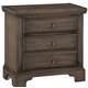All-American Whiskey Barrel 2 Drawer Nightstand in Dark Roast