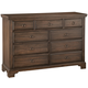 All-American Whiskey Barrel 9 Drawer Chesser in Dark Roast