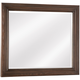 All-American Whiskey Barrel Landscape Mirror in Dark Roast