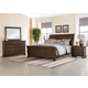 All-American Whiskey Barrel 4pc Sleigh Bedroom Set in Dark Roast
