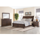 All-American Whiskey Barrel 4pc Sleigh Storage Bedroom Set in Dark Roast