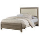 Virginia House Bedford Queen Upholstered Bed in Washed Oak