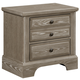 Virginia House Bedford Two Drawer Nightstand in Washed Oak BB81-226