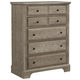 Virginia House Bedford Five Drawer Chest in Washed Oak BB81-115