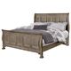 All-American Woodlands Queen Sleigh Bed in Driftwood