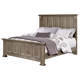 All-American Woodlands Queen Mansion Bed in Driftwood