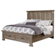 All-American Woodlands King Mansion Storage Bed in Driftwood