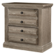 All-American Woodlands 2 Drawer Nightstand in Driftwood