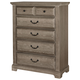 All-American Woodlands 5 Drawer Chest in Driftwood