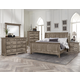 All-American Woodlands 4pc Sleigh Bedroom Set in Driftwood