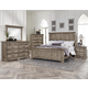 All-American Woodlands 4pc Mansion Bedroom Set in Driftwood
