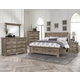 All-American Woodlands 4pc Sleigh Storage Bedroom Set in Driftwood