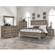 All-American Woodlands 4pc Mansion Storage Bedroom Set in Driftwood