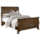All-American Woodlands Queen Sleigh Bed in Oak