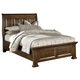 All-American Country Club Queen Sleigh Storage Bed in Oak