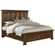 All-American Woodlands Queen Mansion Storage Bed in Oak