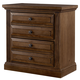 All-American Woodlands 2 Drawer Nightstand in Oak