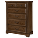 All-American Country Club 5 Drawer Chest in Oak