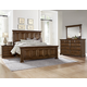 All-American Woodlands 4pc Mansion Bedroom Set in Oak