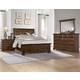 All-American Country Club 4pc Sleigh Storage Bedroom Set in Oak