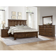 All-American Country Club 4pc Mansion Storage Bedroom Set in Oak