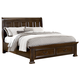 All-American Woodlands Queen Sleigh Storage Bed in Cherry