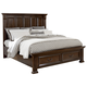 All-American Woodlands Queen Mansion Storage Bed in Cherry