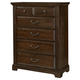 All-American Woodlands 5 Drawer Chest in Cherry