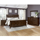 All-American Woodlands 4pc Sleigh Bedroom Set in Cherry