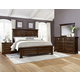 All-American Woodlands 4pc Mansion Storage Bedroom Set in Cherry