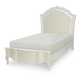 Legacy Classic Kids Tiffany Twin Upholstered Platform Bed in Pearl White 5930-4803K