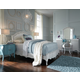 Legacy Classic Kids 4-Piece Tiffany Upholstered Platform Bedroom Set in Pearl White