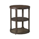 Shofern Round End Table in Rustic Brown T702-6