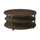Shofern Round Cocktail Table in Rustic Brown T702-8