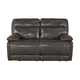 Palladum Reclining Loveseat in Metal U7260186