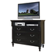 New Classic Martinique Media Chest in Rubbed Black 00-222-078