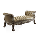 Acme Dresden Button Tufted Bench in Golden Patina 96488 PROMO