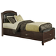Liberty Furniture Avalon Twin One Sided Storage Bed in Dark Truffle 505-YBR-T1S