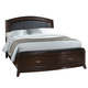 Liberty Furniture Avalon Full One Sided Storage Bed in Dark Truffle 505-YBR-F1S CLEARANCE