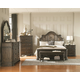 Coaster Carlsbad 4pc Panel Bedroom Set in Vintage Espresso
