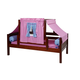 Maxtrix Basic Twin Daybed w/ Back and Front Safety Rails and Top Tent in Hot Pink/Light Blue/Purple #YO28